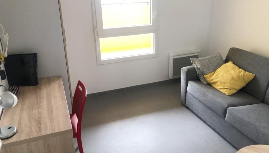 Salon T2 canapé-lit