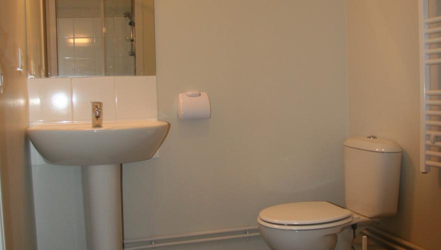 Studio meublé - Grande salle d'eau
