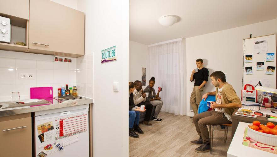 Studio - Salon et cuisine