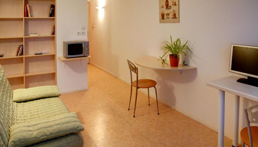 Studio 20 m² 1 pers lit canapé