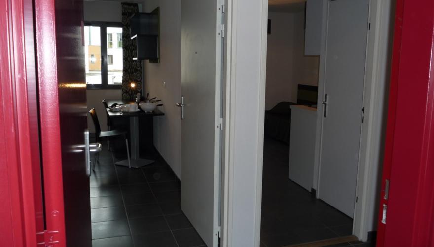 Studio avec palier commun